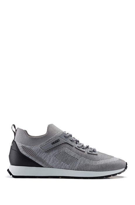 Retro-inspired sock trainers with REPREVE®, Light Grey