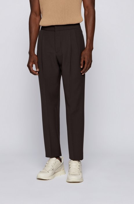 Regular-fit pants with cropped length, Light Green