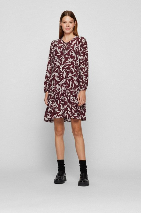 Relaxed-fit tunic dress with collection print, Patterned