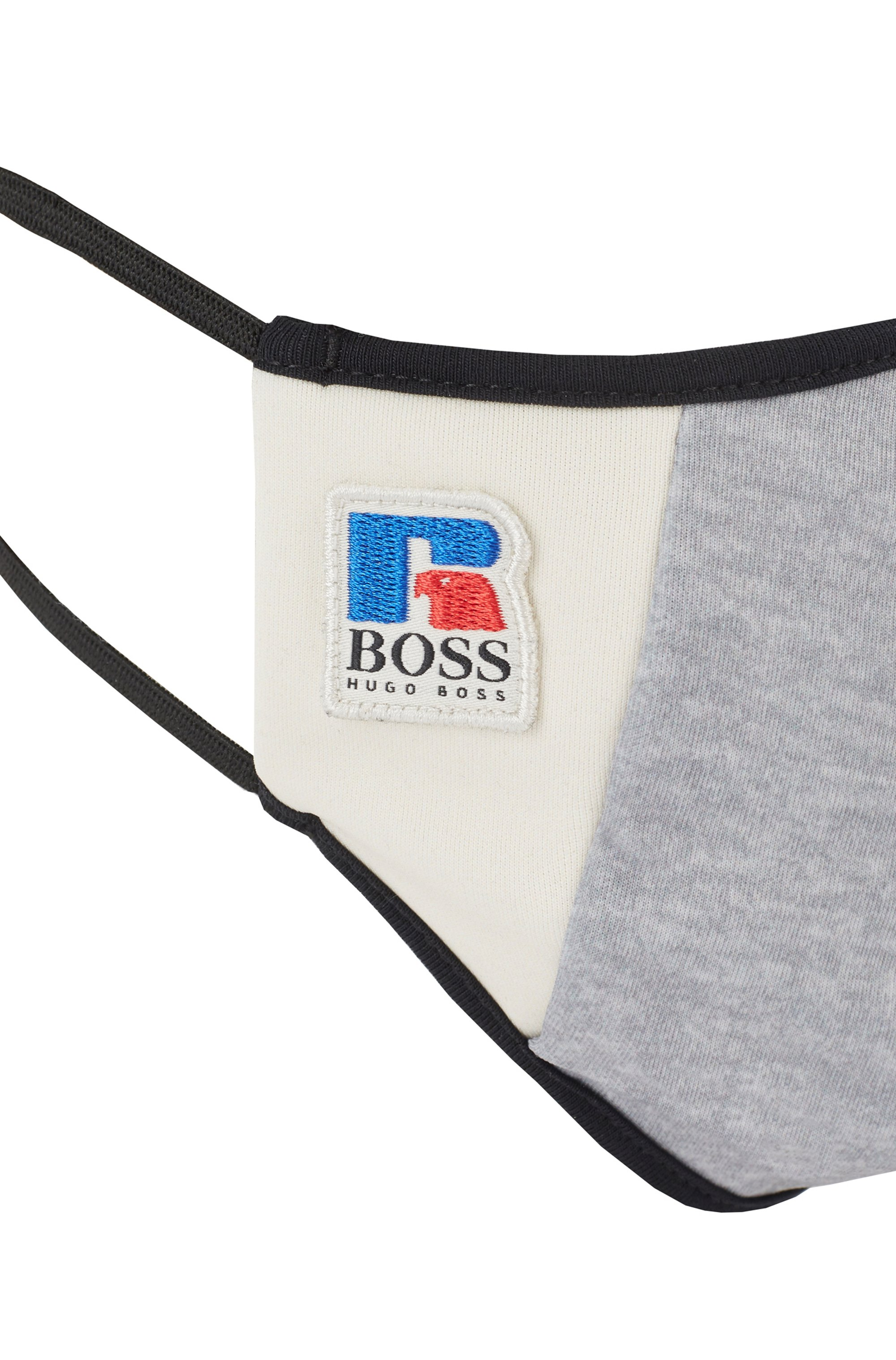 Face mask in stretch interlock fabric with exclusive logo
