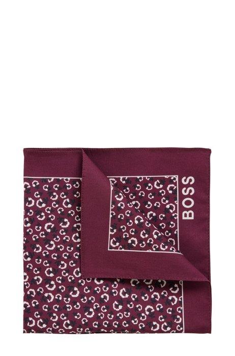 Silk pocket square with digital print, Purple