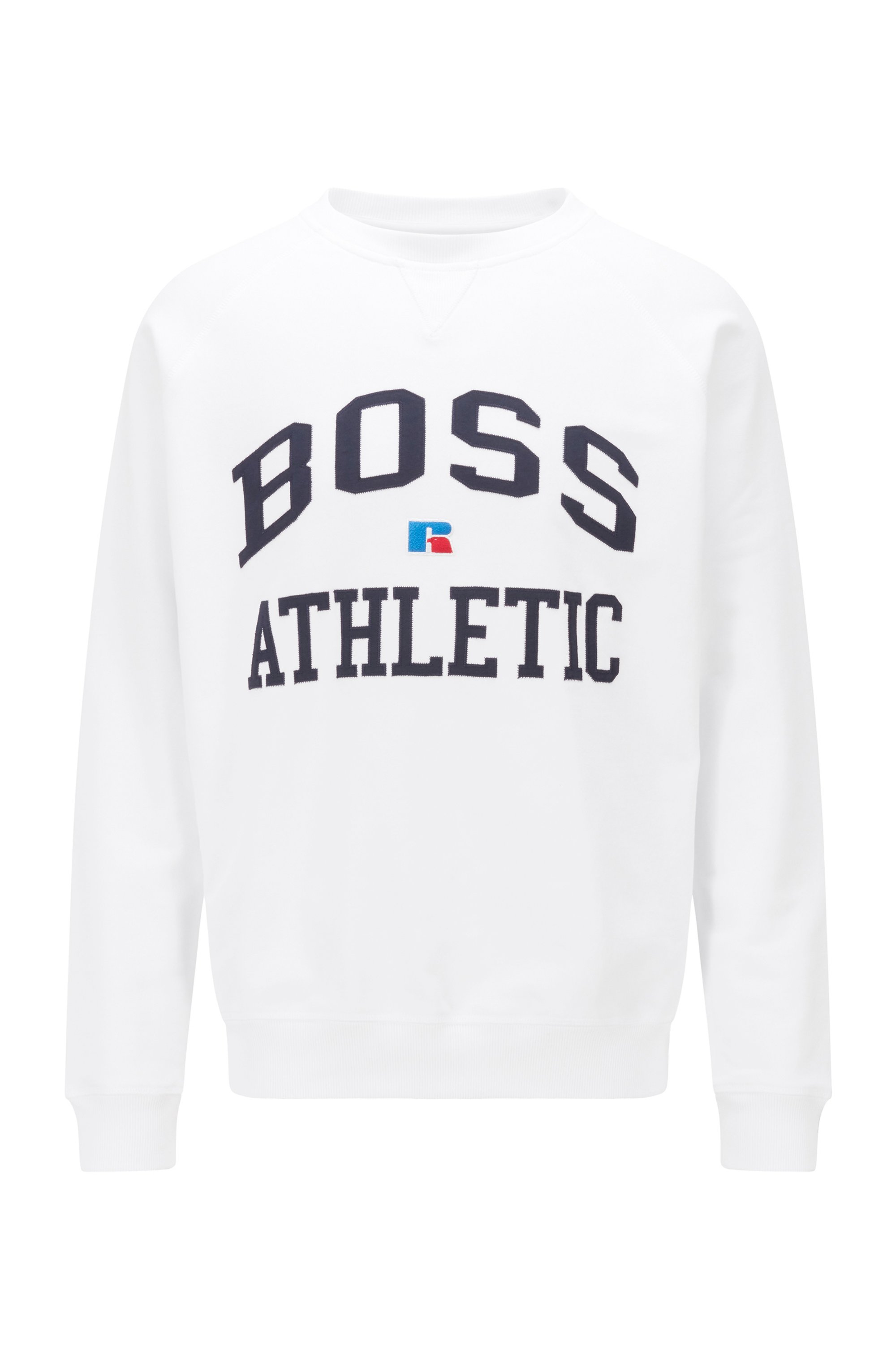 Unisex relaxed-fit sweatshirt in organic cotton with personalization, White