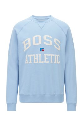 Unisex relaxed-fit sweatshirt in organic cotton with personalization, Light Blue