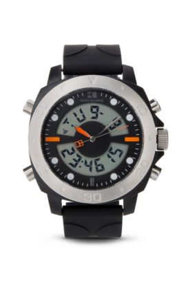 '1512678' | Analog Digital Silicone Strap Sporty Diver Watch, Assorted-Pre-Pack