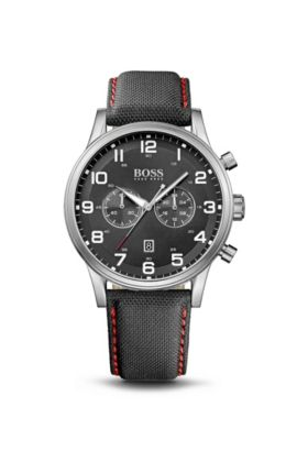 '1512919'   Chronograph Black Canvas Strap Aeroliner Watch , Assorted-Pre-Pack