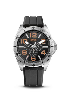 '1512945' | Chronograph Silicon Black Logo Strap Watch, Assorted-Pre-Pack