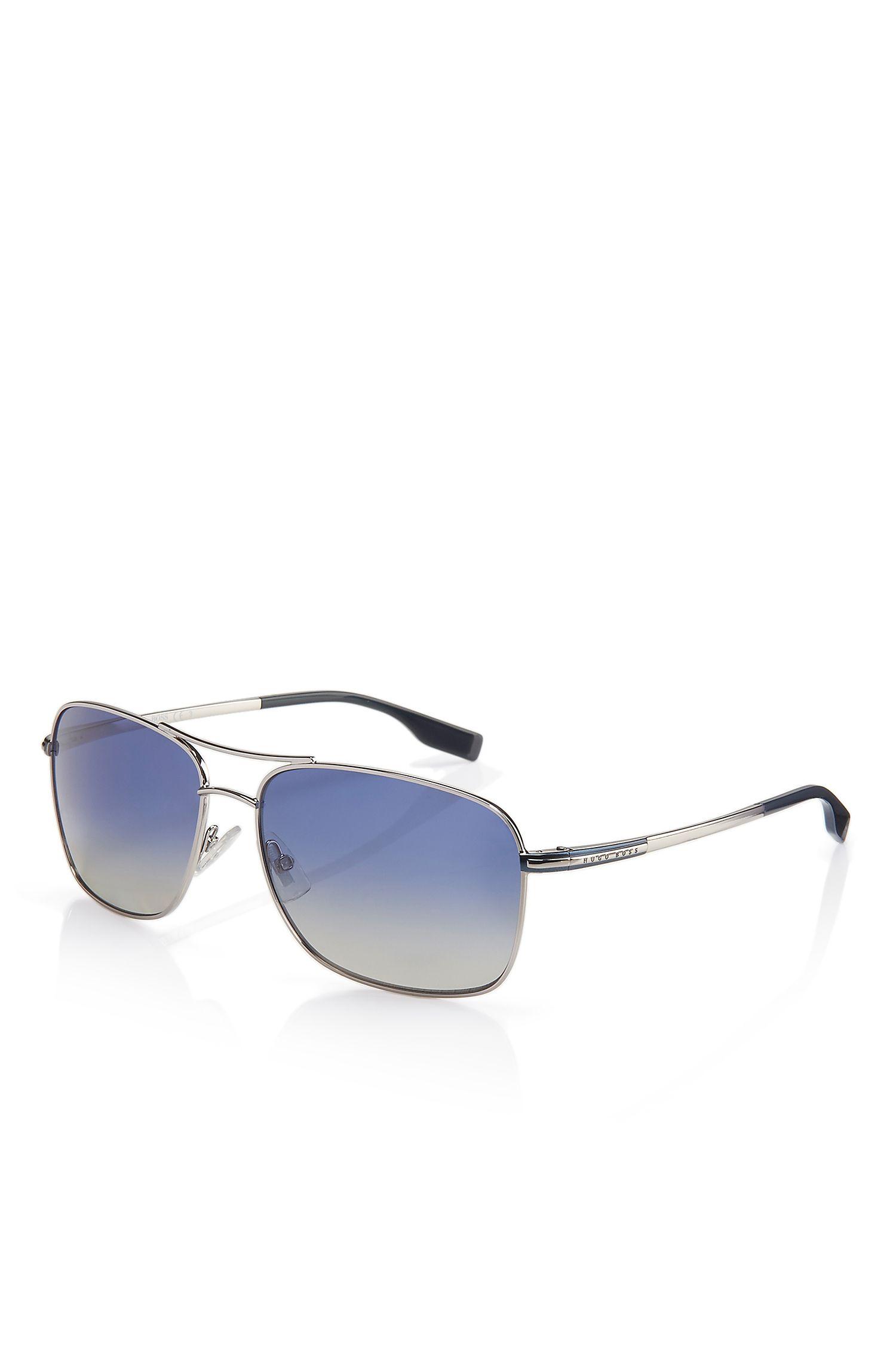 'BOSS 058PS'   Double Bridge Navigator Gradient Lens Sunglasses