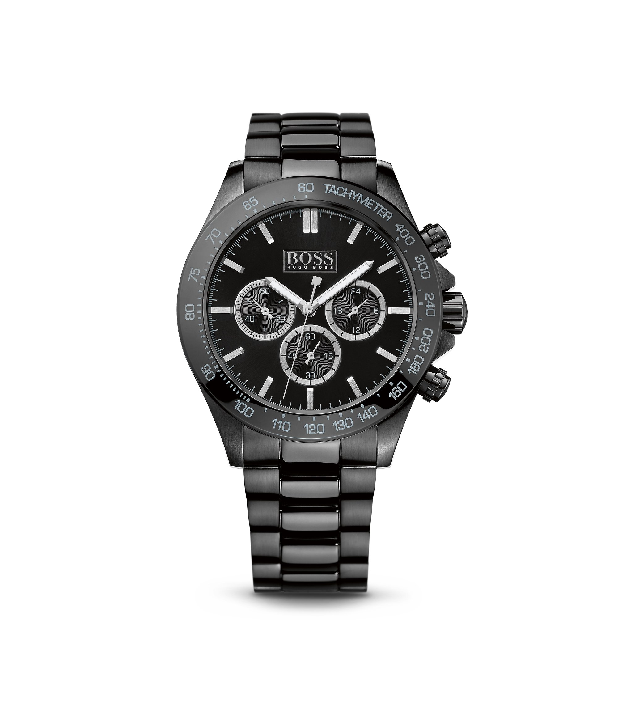 '1512961' | Chronograph Ionic Black Plated Steel Strap Quartz Watch, Assorted-Pre-Pack