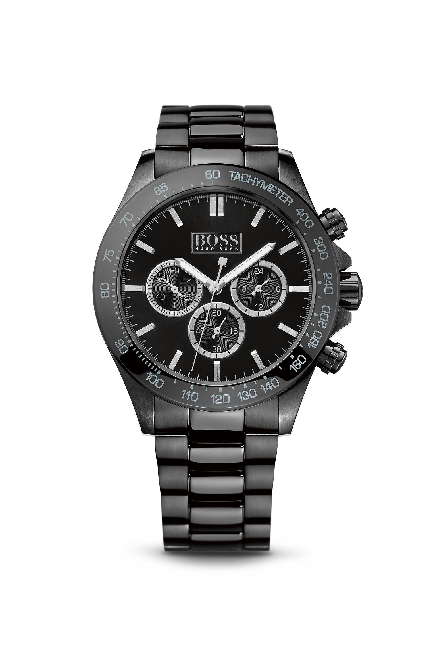 '1512961' | Chronograph Ionic Black Plated Steel Strap Quartz Watch