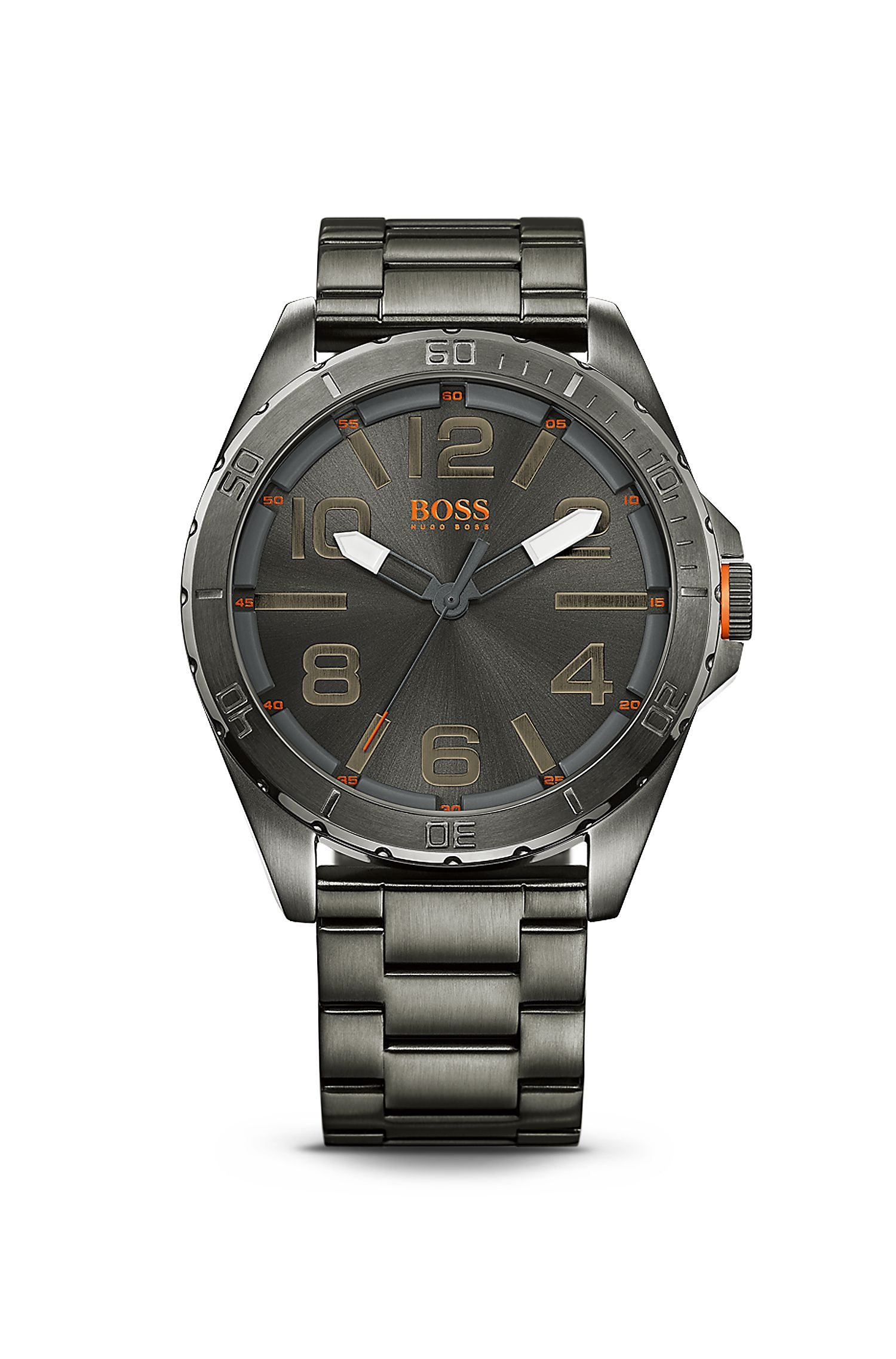 '1512999' | Ionic Plated Grey Steel Strap Watch