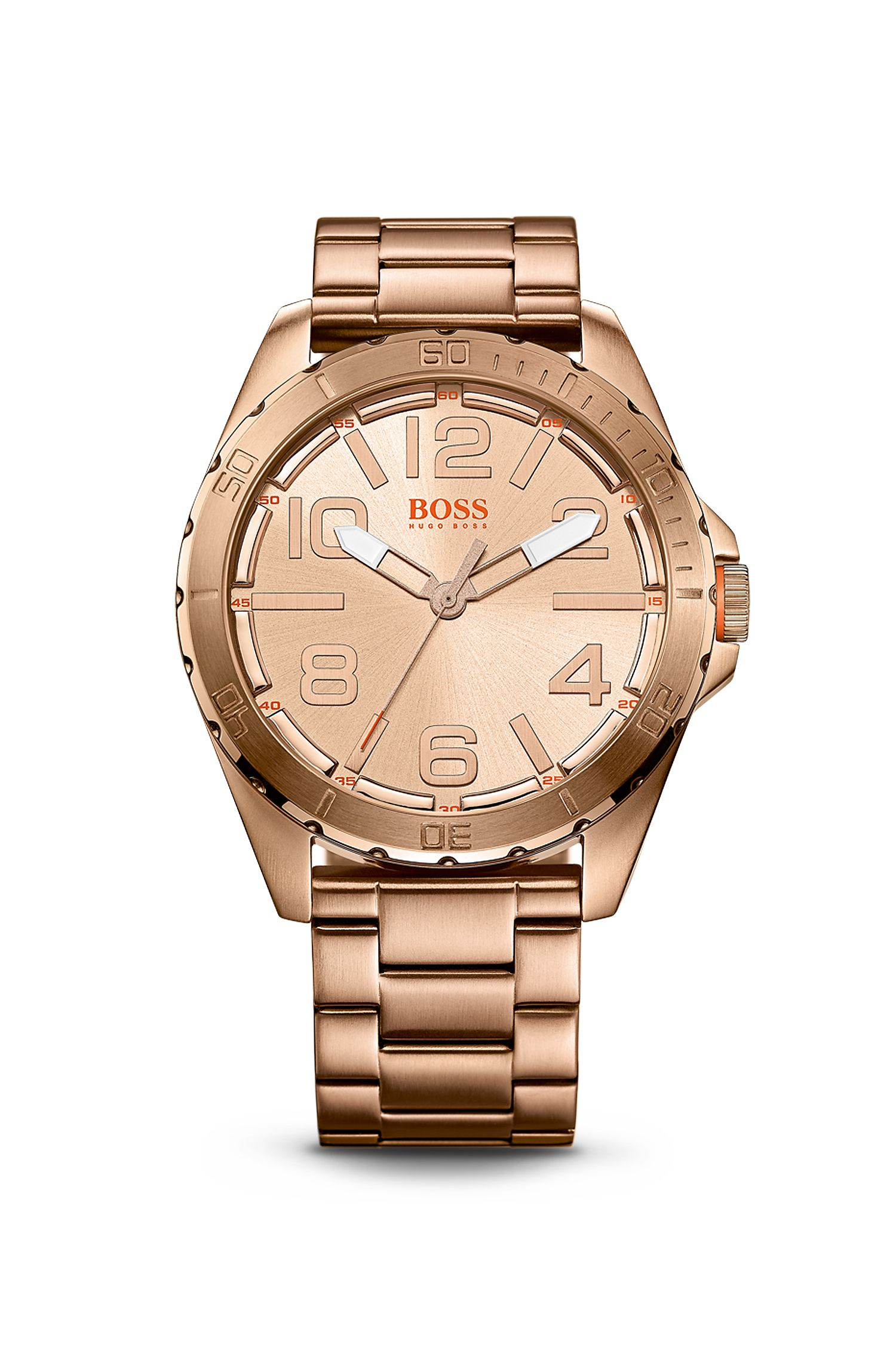 '1513003' | Ionic Rose Gold Plated Steel Strap Watch