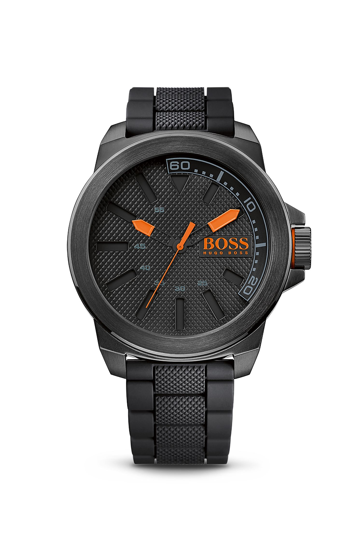'1513004' | Black Silicon Strap Watch