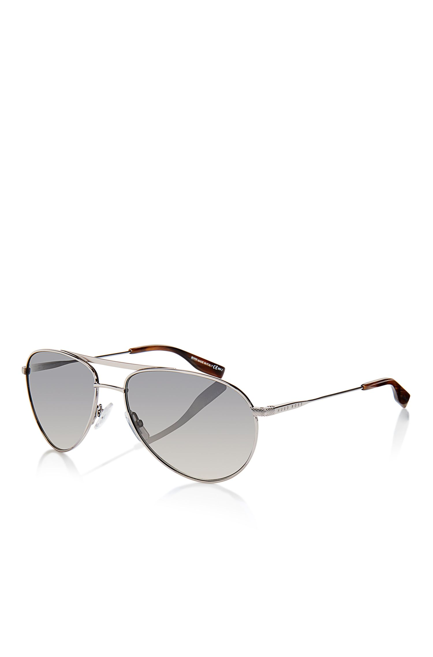 'Sunglasses' | Grey Lens Flex Hinge Aviator Sunglasses