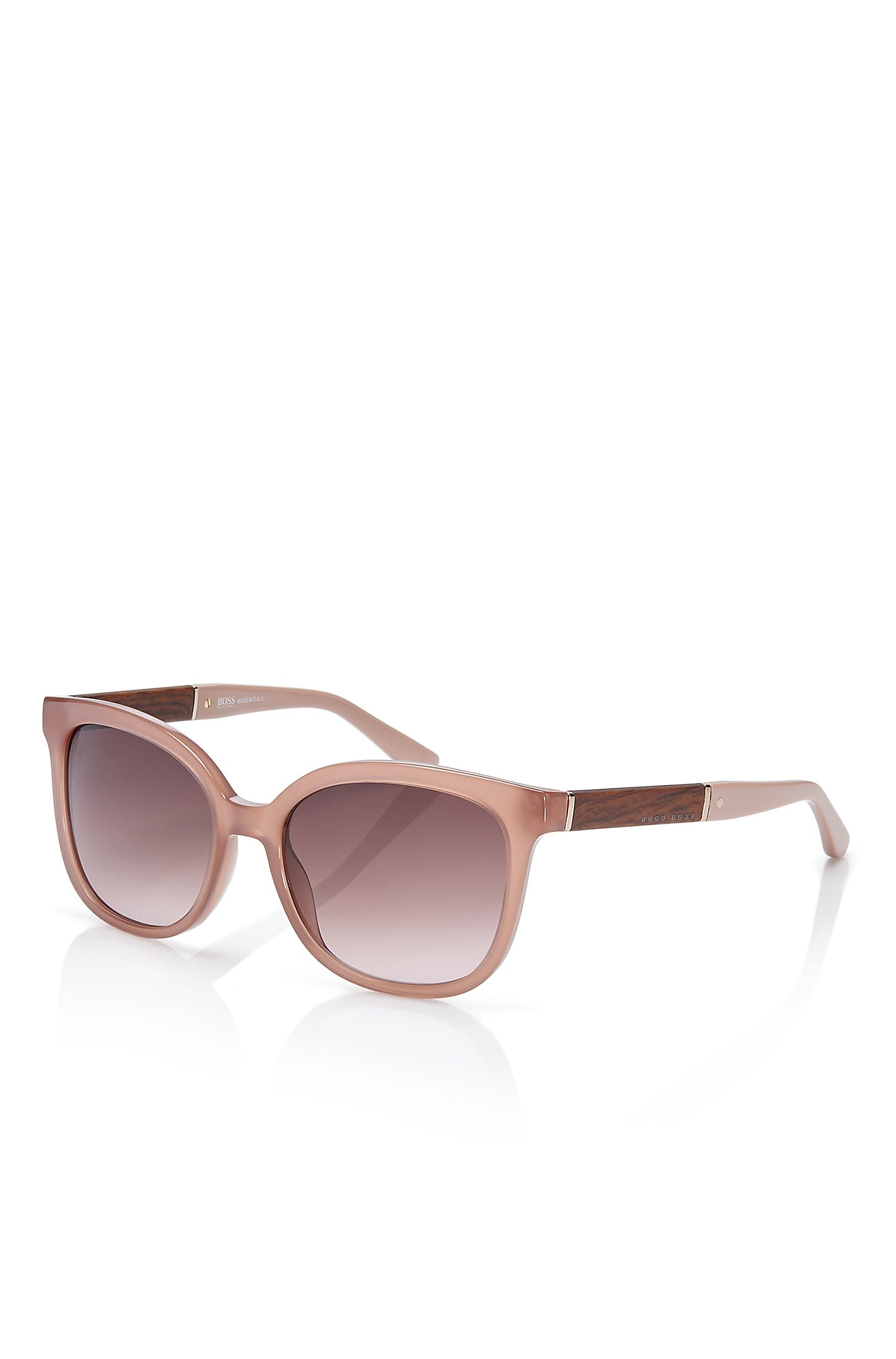 'BOSS 0663S' | Rectangular Wood Pattern Sunglasses