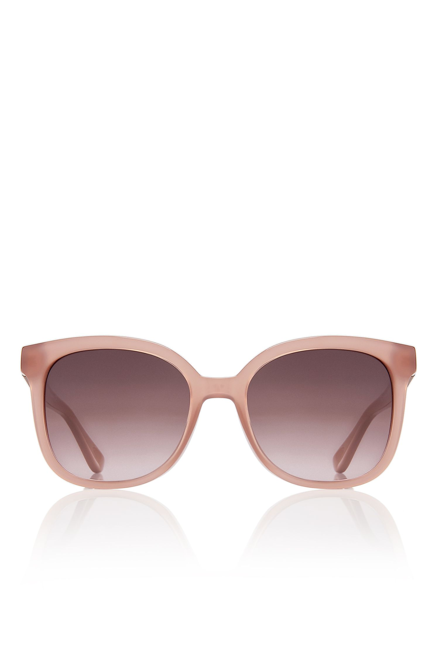 Rectangular Wood Pattern Sunglasses  | BOSS 0663S