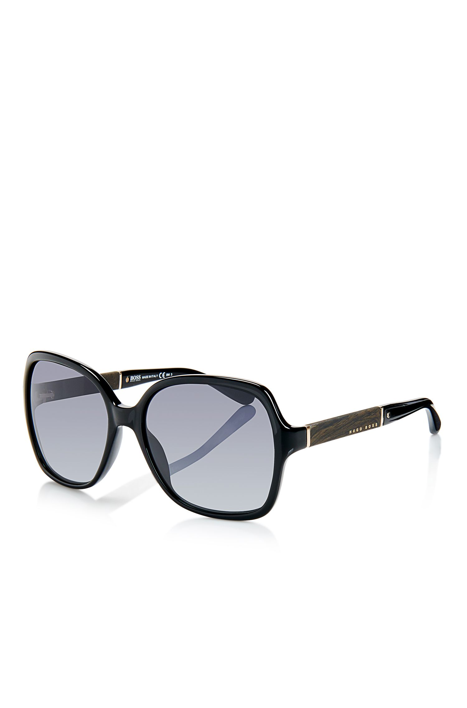 'Sunglasses' | Oversized Wood Detail Sunglasses