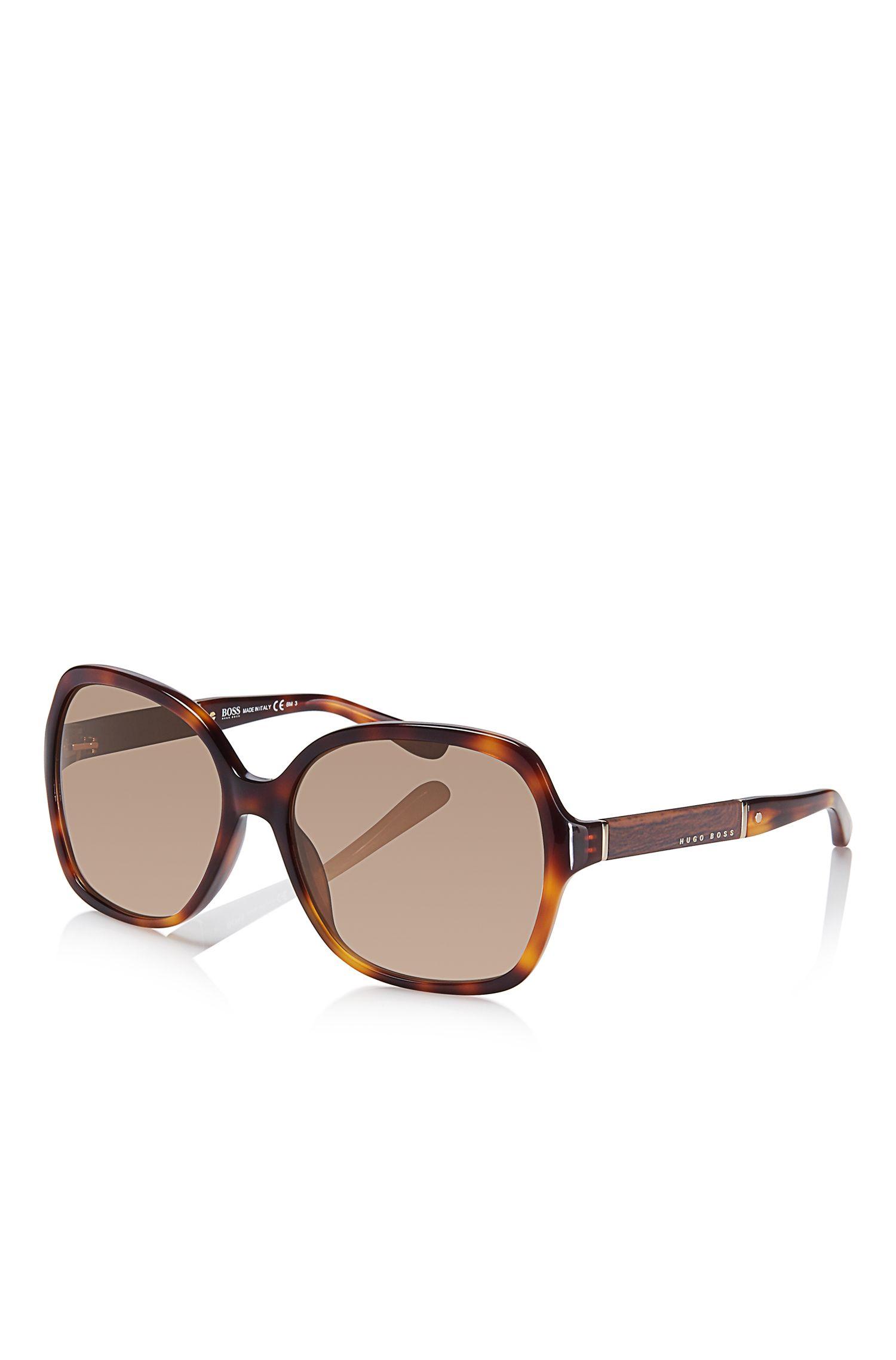 'BOSS' | Square Tortoiseshell Pattern Sunglasses