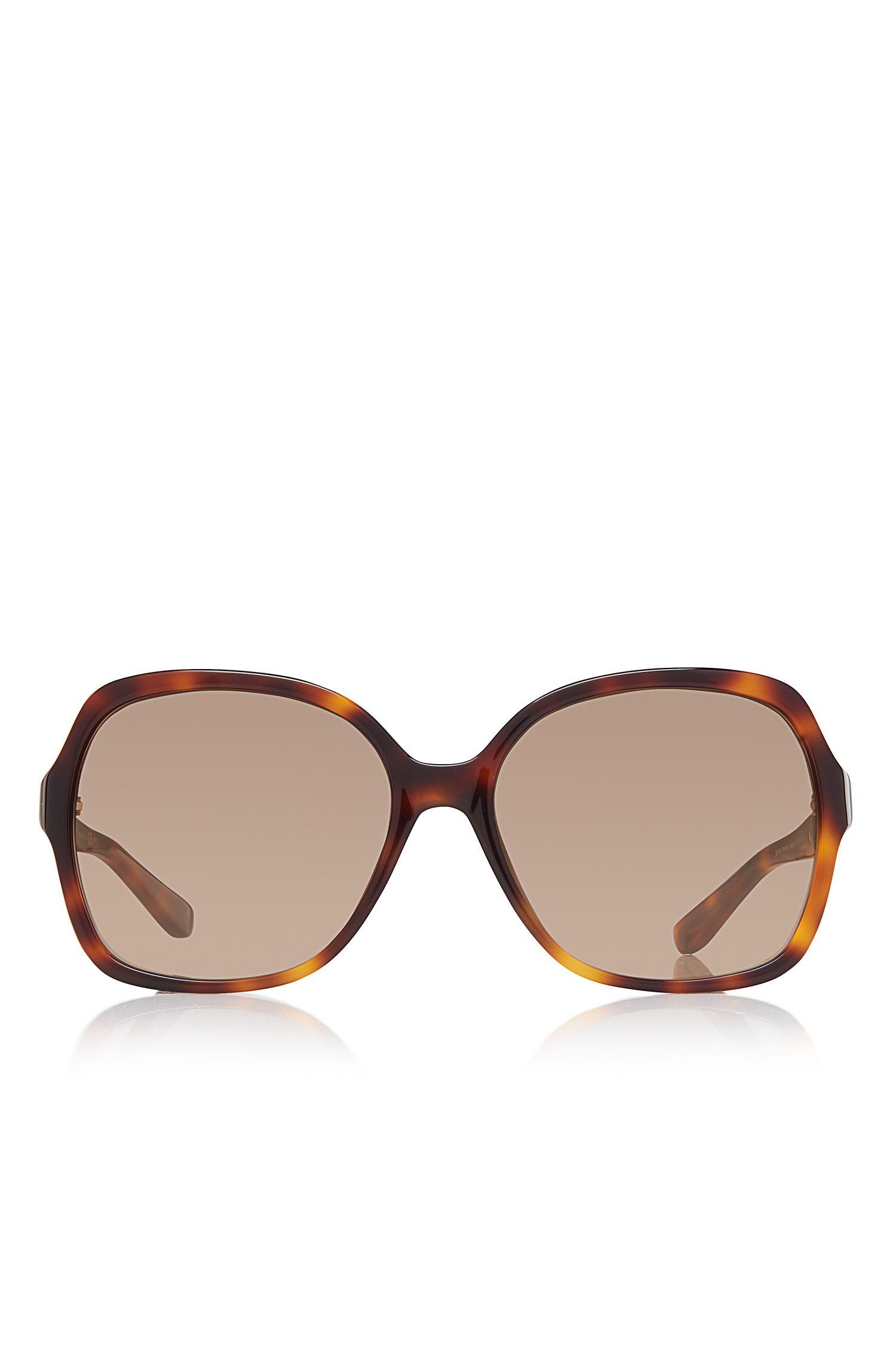 Square Tortoiseshell Pattern Sunglasses | BOSS 0664/S