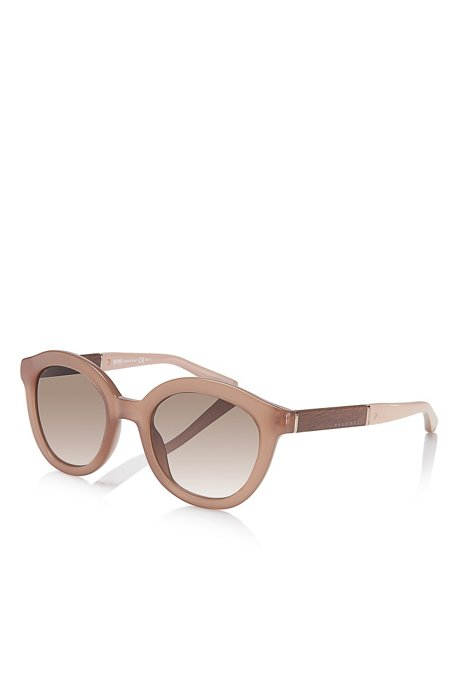 14651f4c0c BOSS - Rounded Vintage Wood Detailed Sunglasses