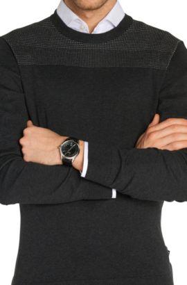 '1513022' | Black Croc-Embossed Strap 3-Hand Quartz Ambassador Watch, Assorted-Pre-Pack