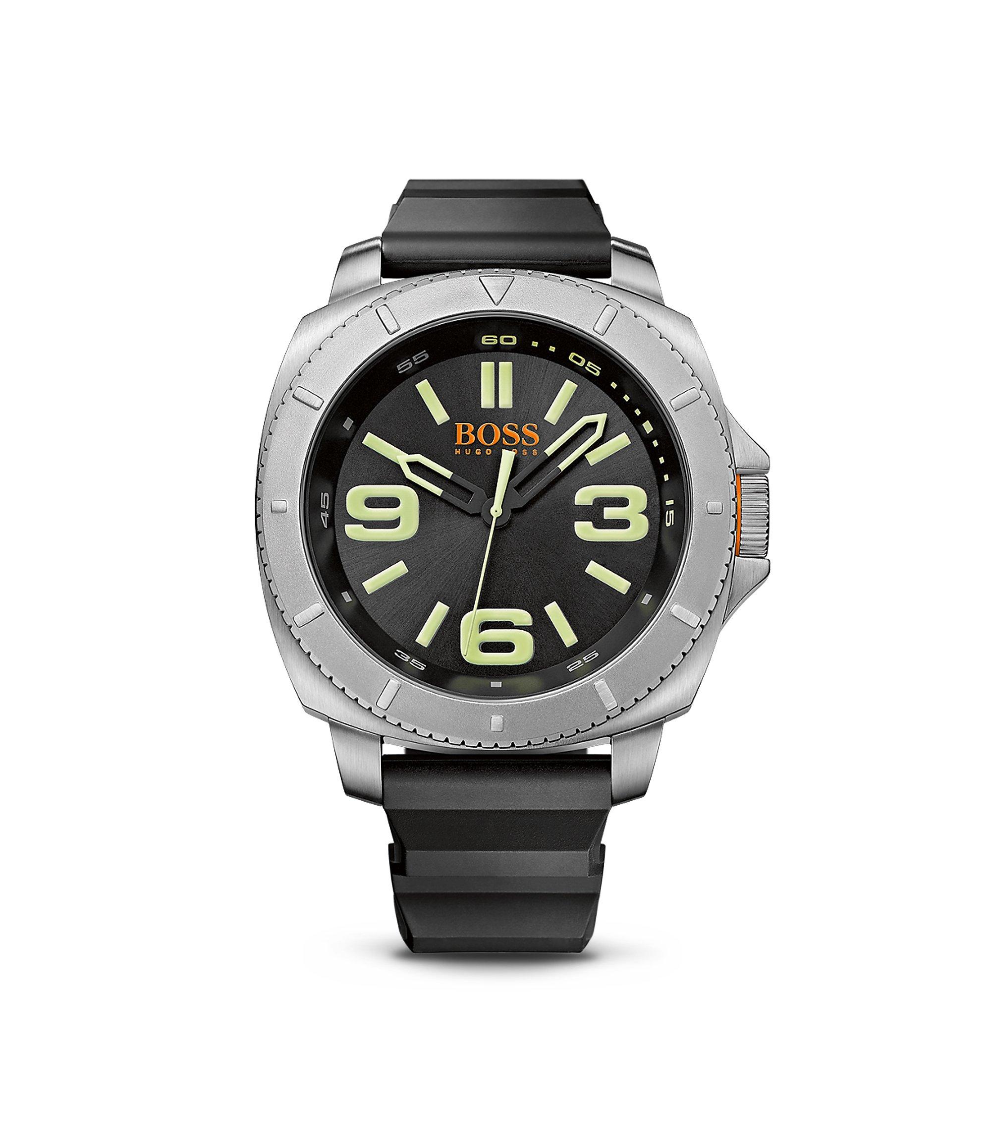 '1513107' | Black Silicone Strap 3-Hand Quartz Sao Paulo Watch , Assorted-Pre-Pack