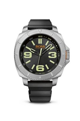 '1513107' | Black Silicone Strap 3-Hand Quartz Sao Paulo Watch , Assorted-Pre-Pack
