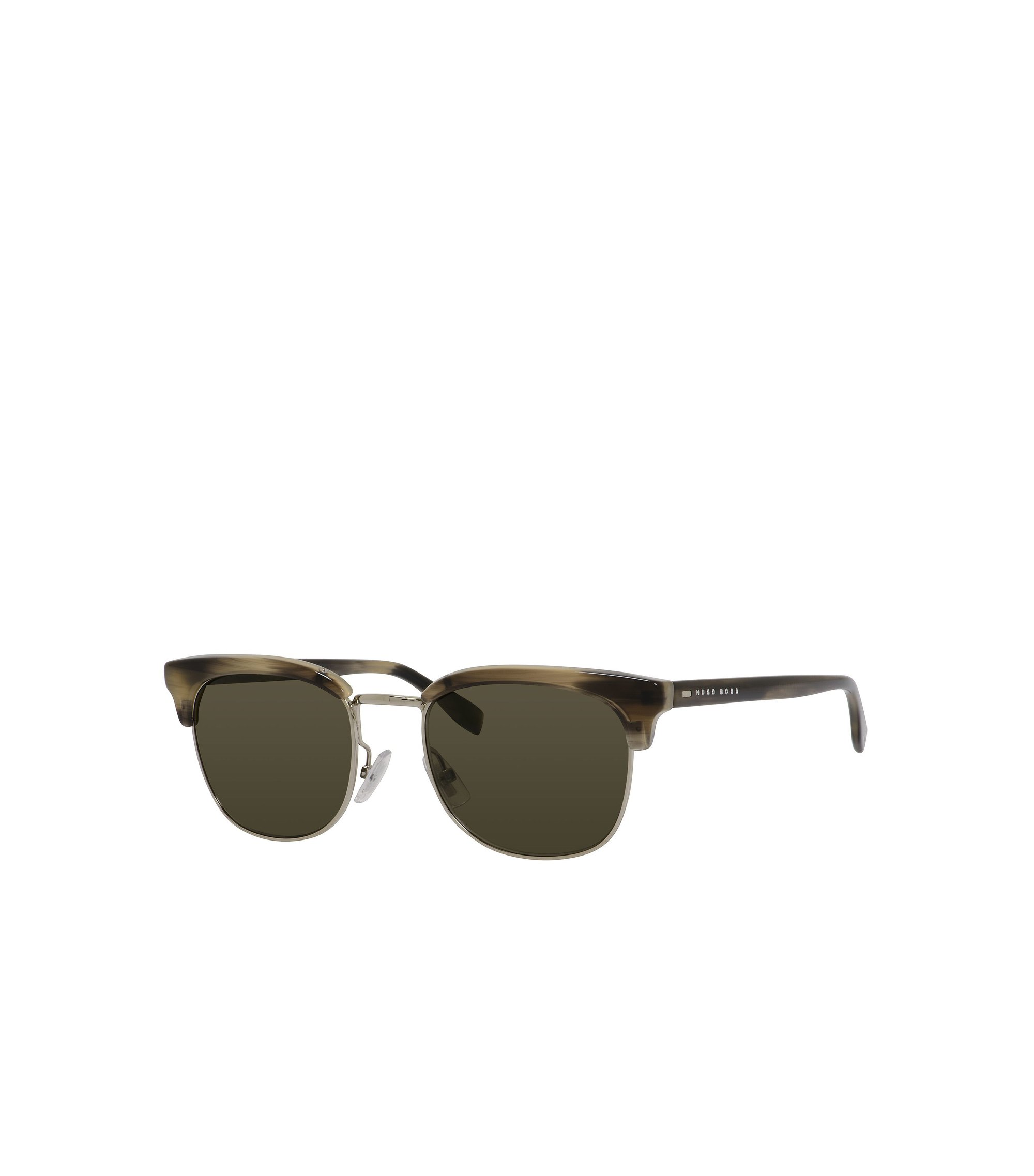 'BOSS 0667S' | Brown Lens Clubmaster Sunglasses, Assorted-Pre-Pack