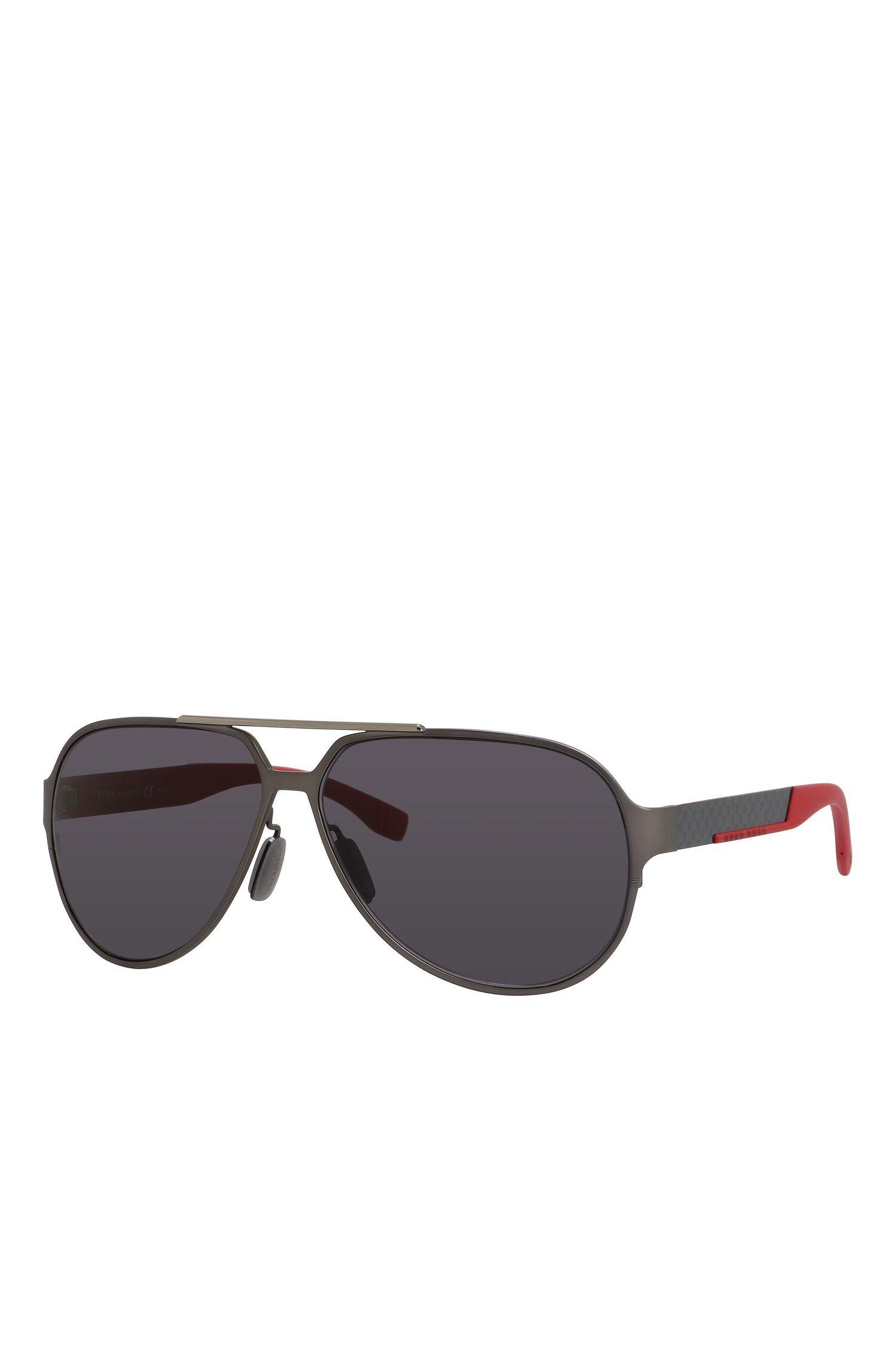 'BOSS  0669S'   Black Lens Carbon Fiber Aviator Sunglasses