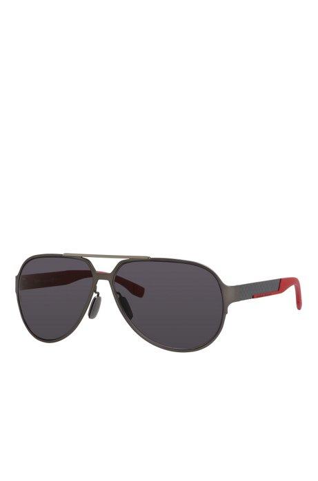 22314aa9a051 Black Lens Carbon Fiber Aviator Sunglasses | BOSS 0669S, Assorted-Pre-Pack