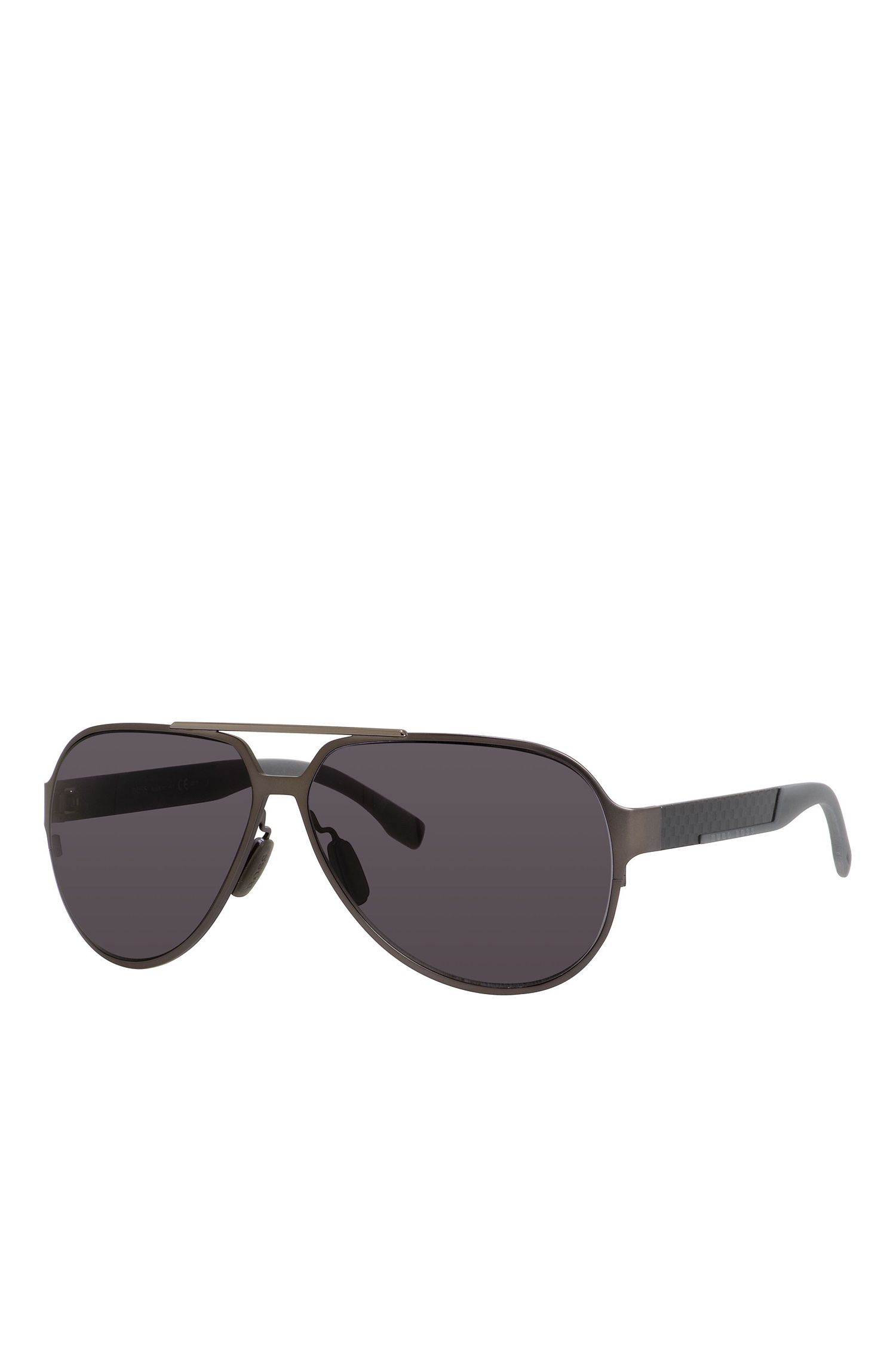 'BOSS  0669S' | Black Lens Carbon Fiber Aviator Sunglasses