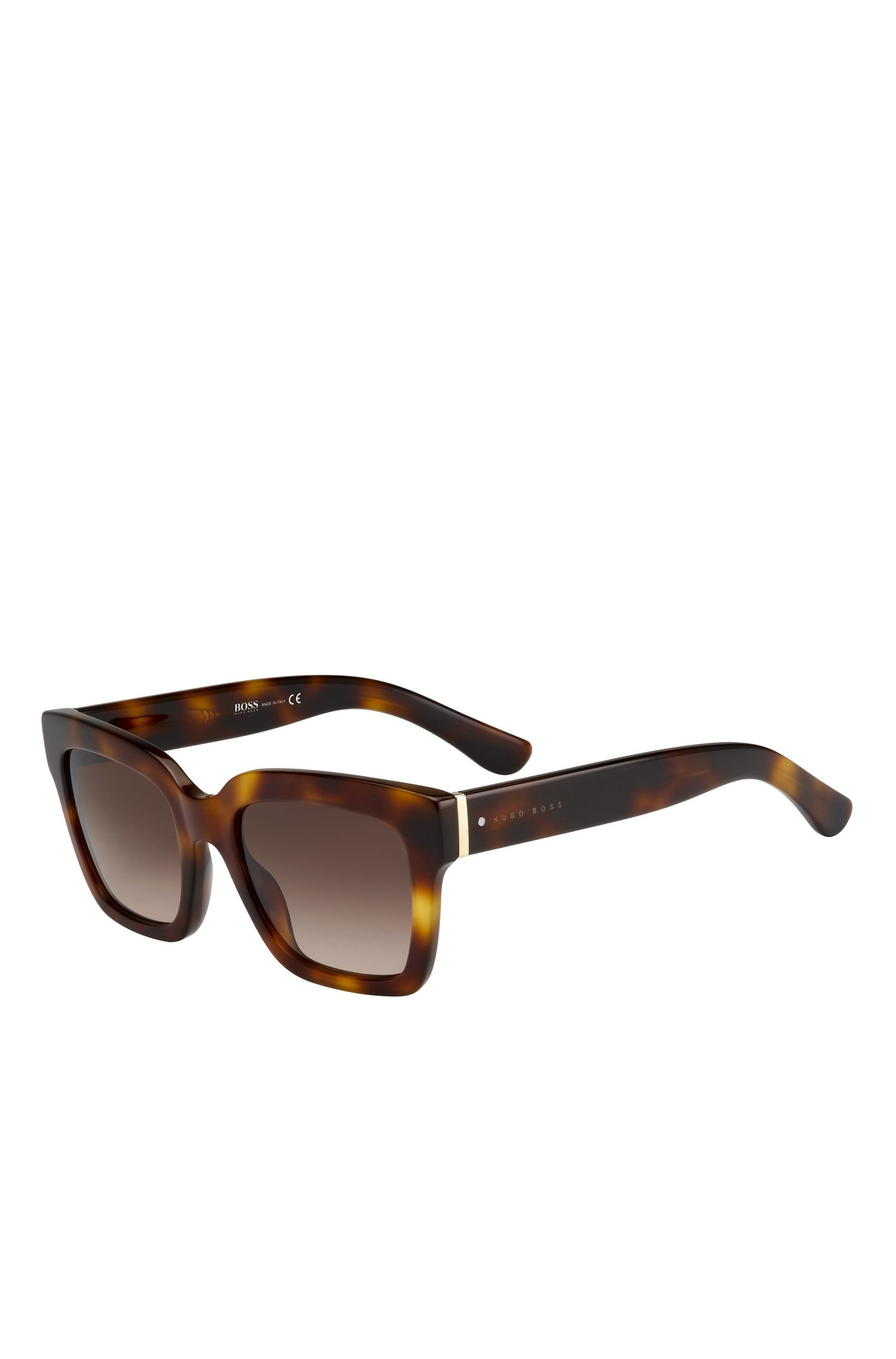 'BOSS 0674S' | Brown Gradient Lens Rectangular Sunglasses