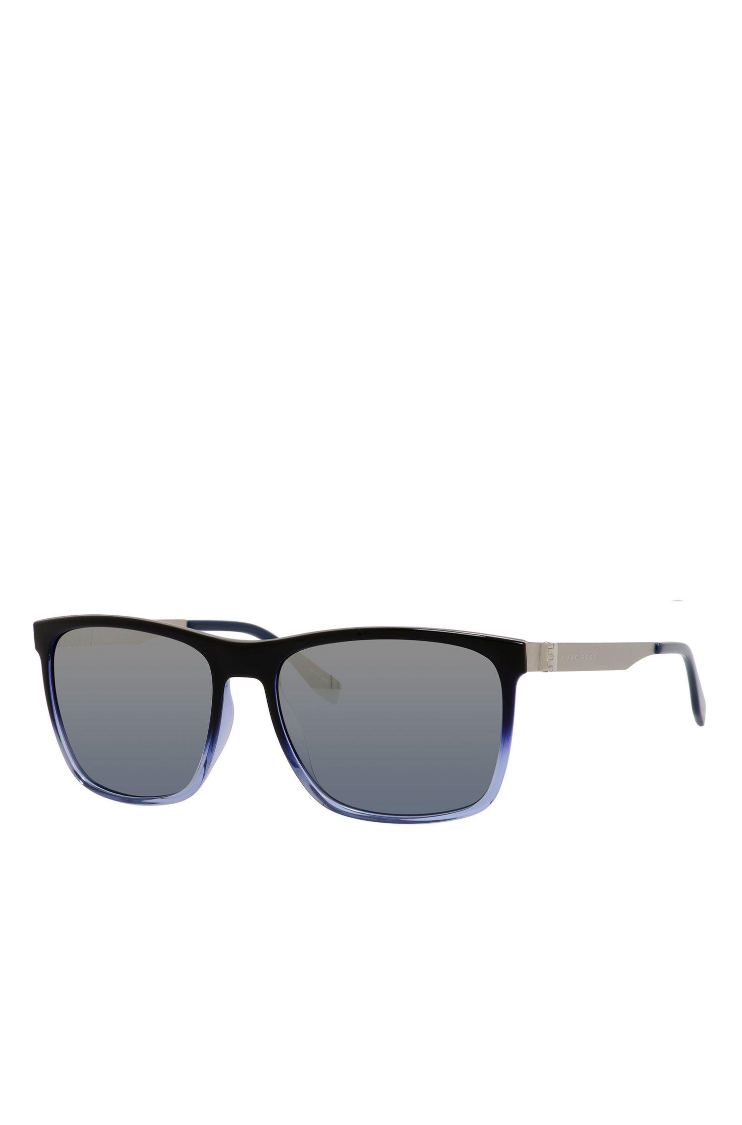 'BOSS 0671S'   Blue Gradient Lens Rectangular Sunglasses