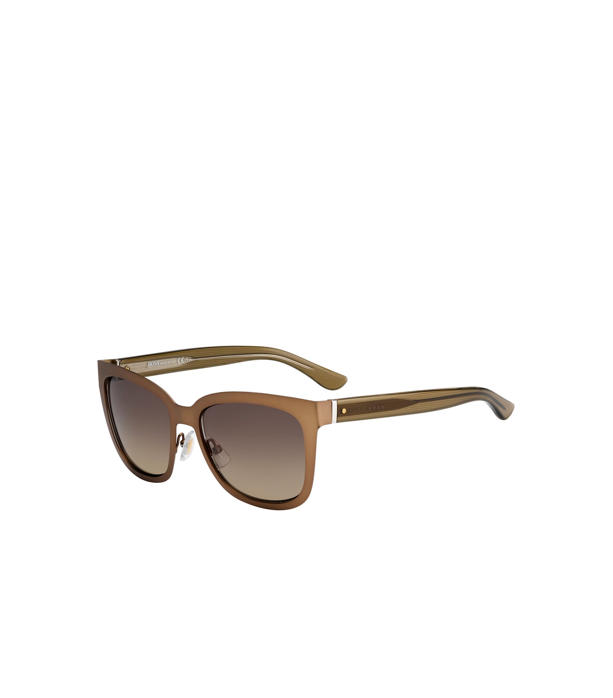 Brown Gradient Lens Rectangular Sunglasses | BOSS 676S, Assorted-Pre-Pack
