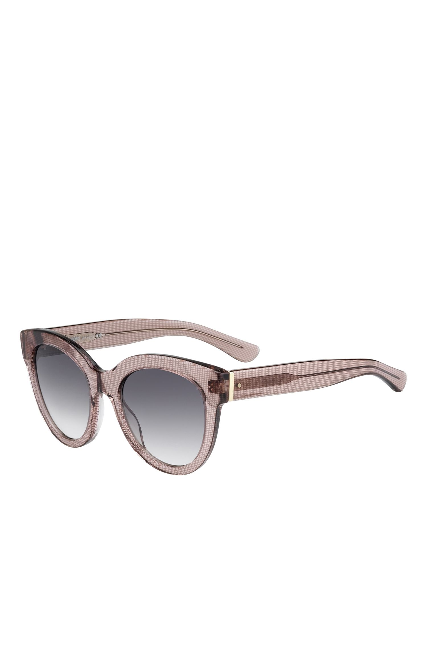 Gray Gradient Lens Cateye Sunglasses | BOSS 0675