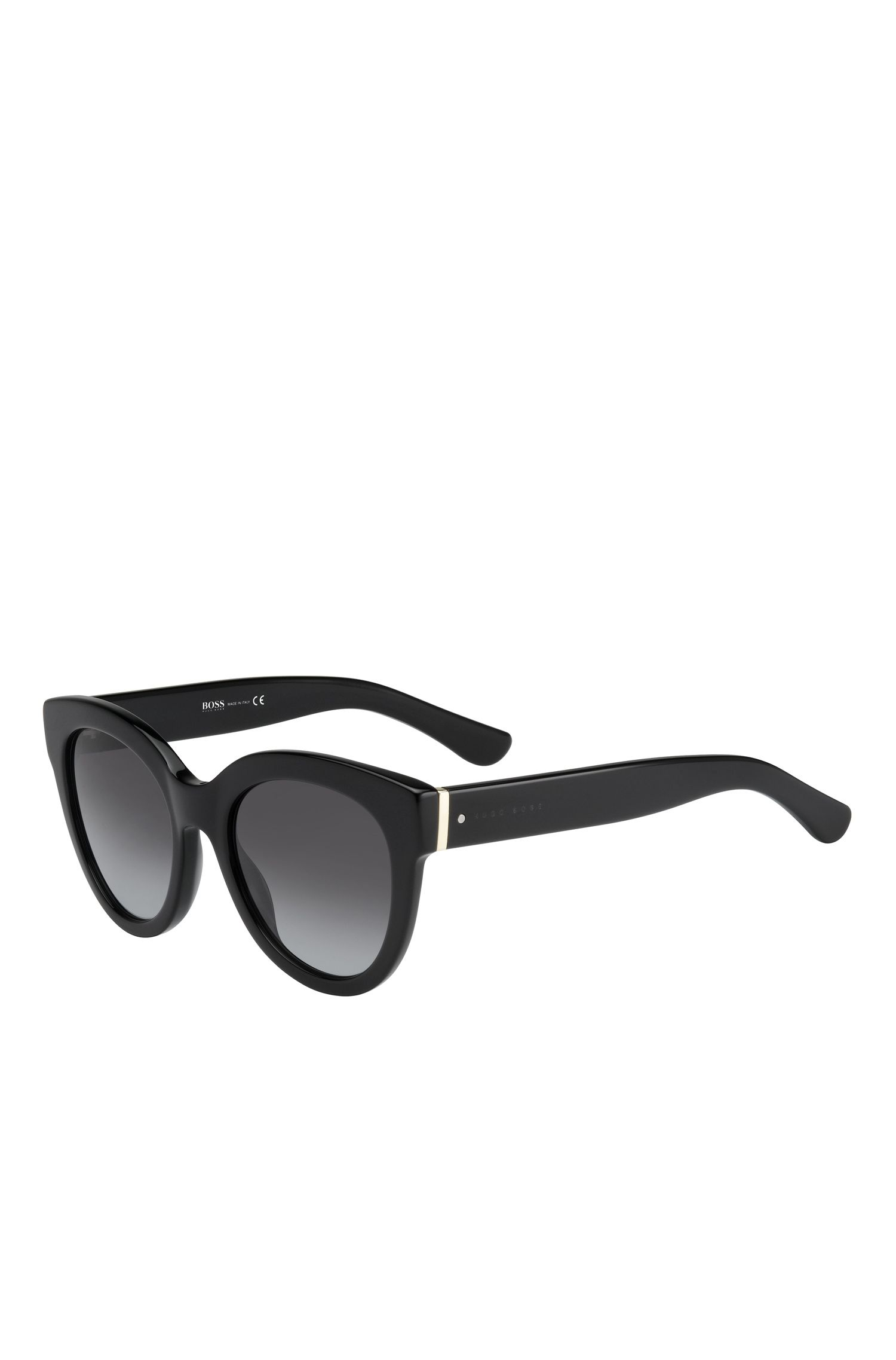 'BOSS 0675S' | Black Gradient Lens Cateye Sunglasses