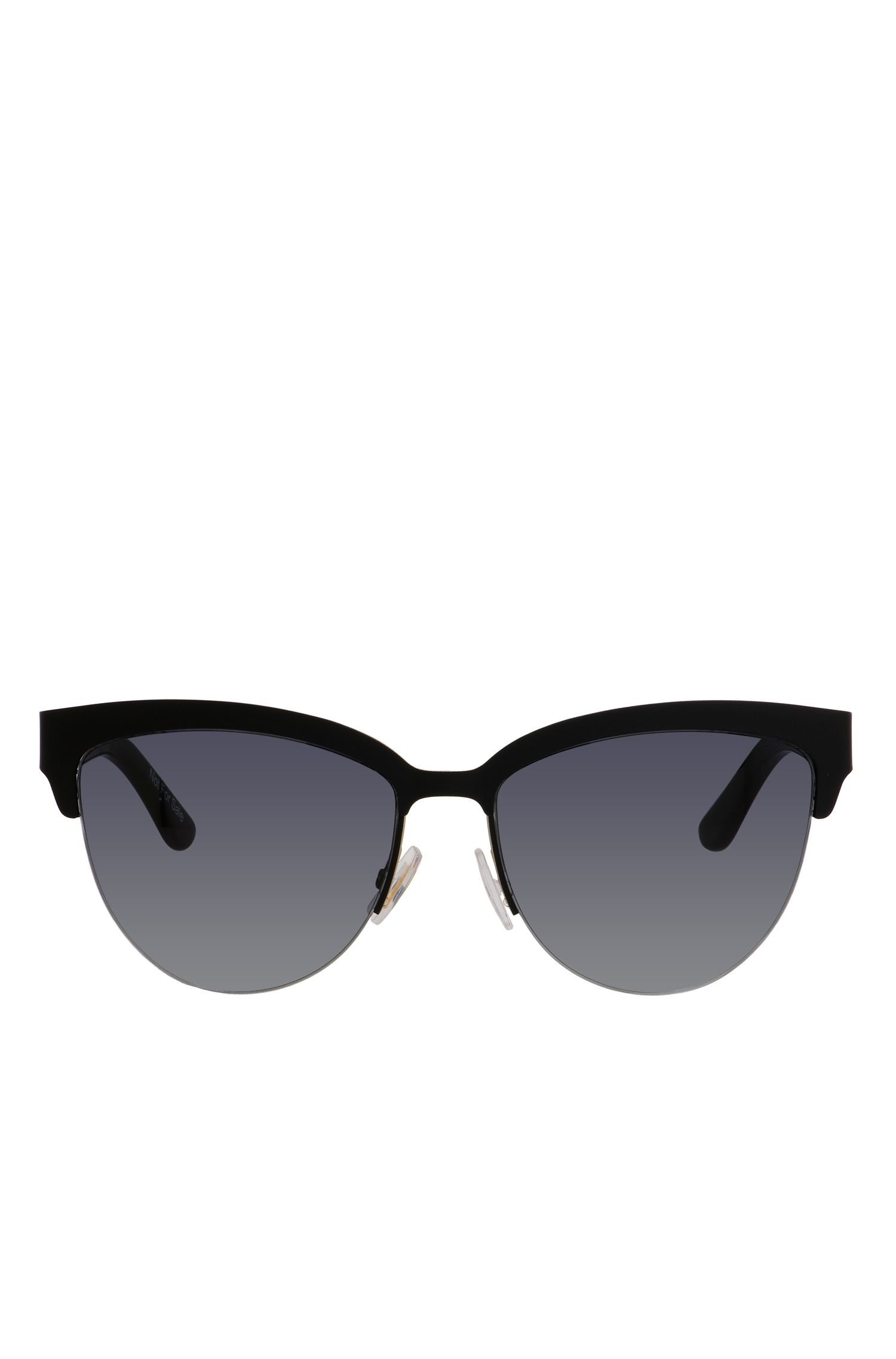Black Lenses Half-Frame Cateye Sunglasses | BOSS 678S, Assorted-Pre-Pack