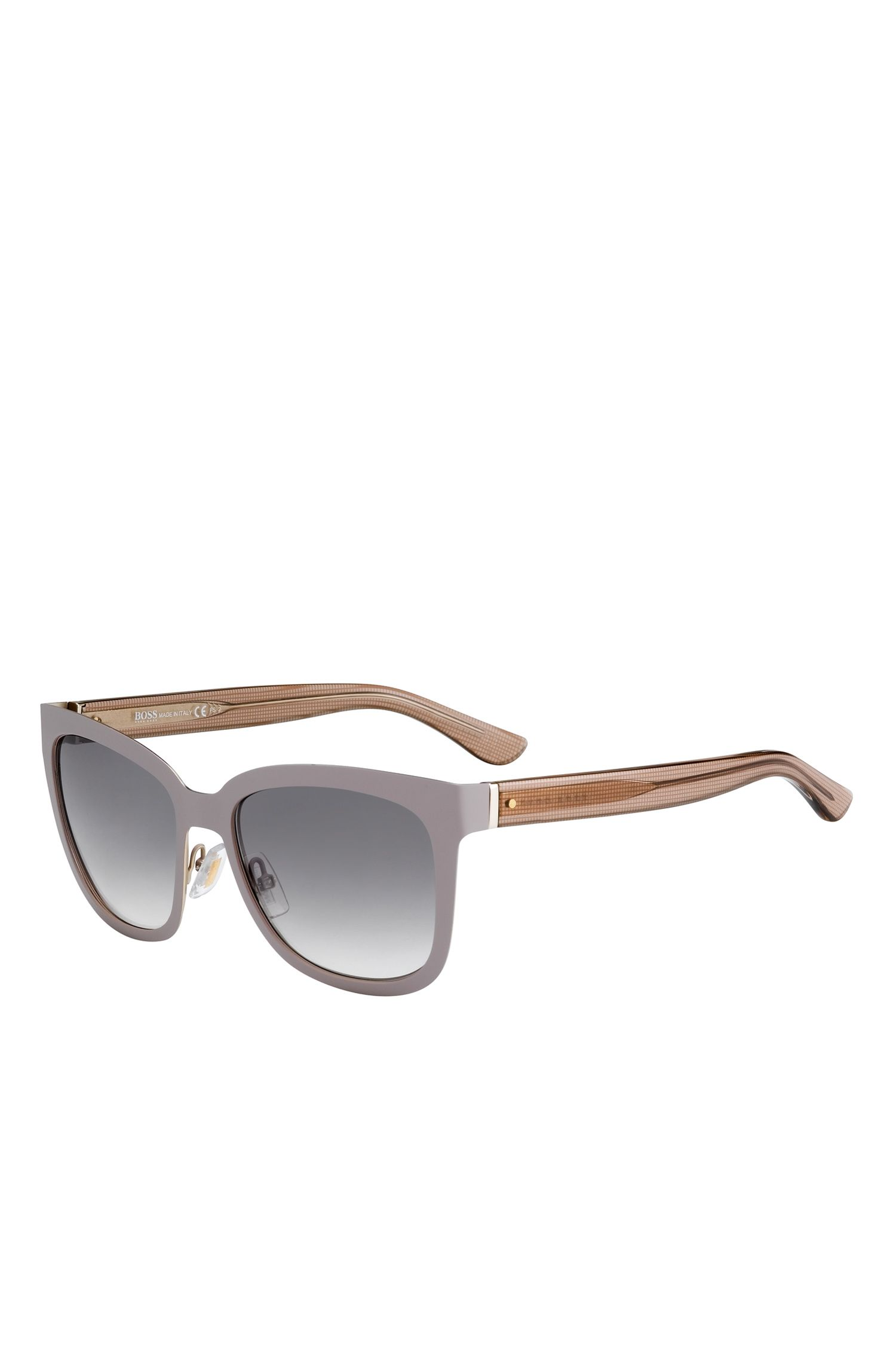 Gray Gradient Lens Rectangular Sunglasses | BOSS 676S
