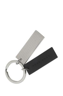 'HAK524' | Grid Key Ring, Silver