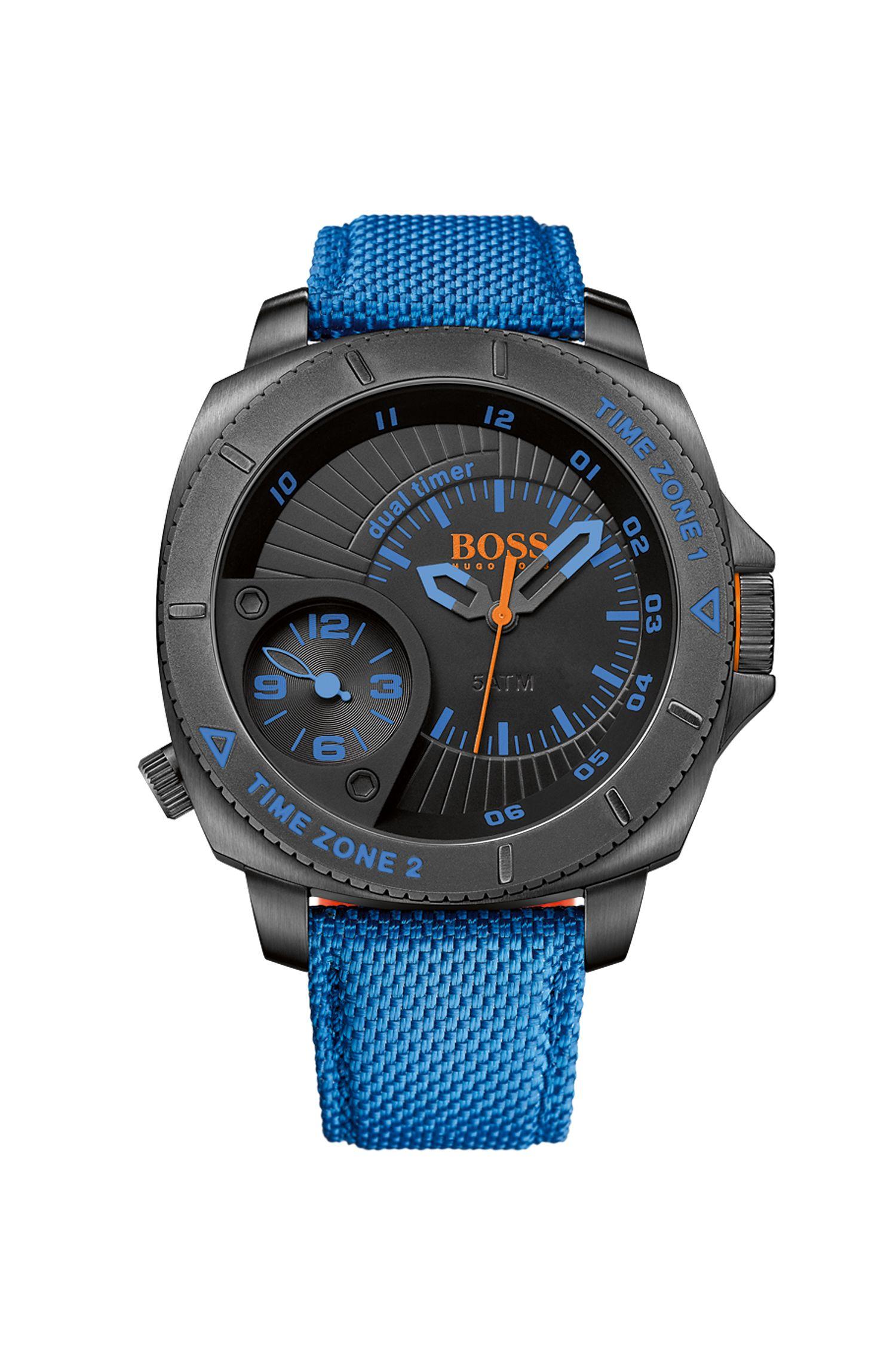 '1513209' | Woven Nylon Strap Quartz Watch