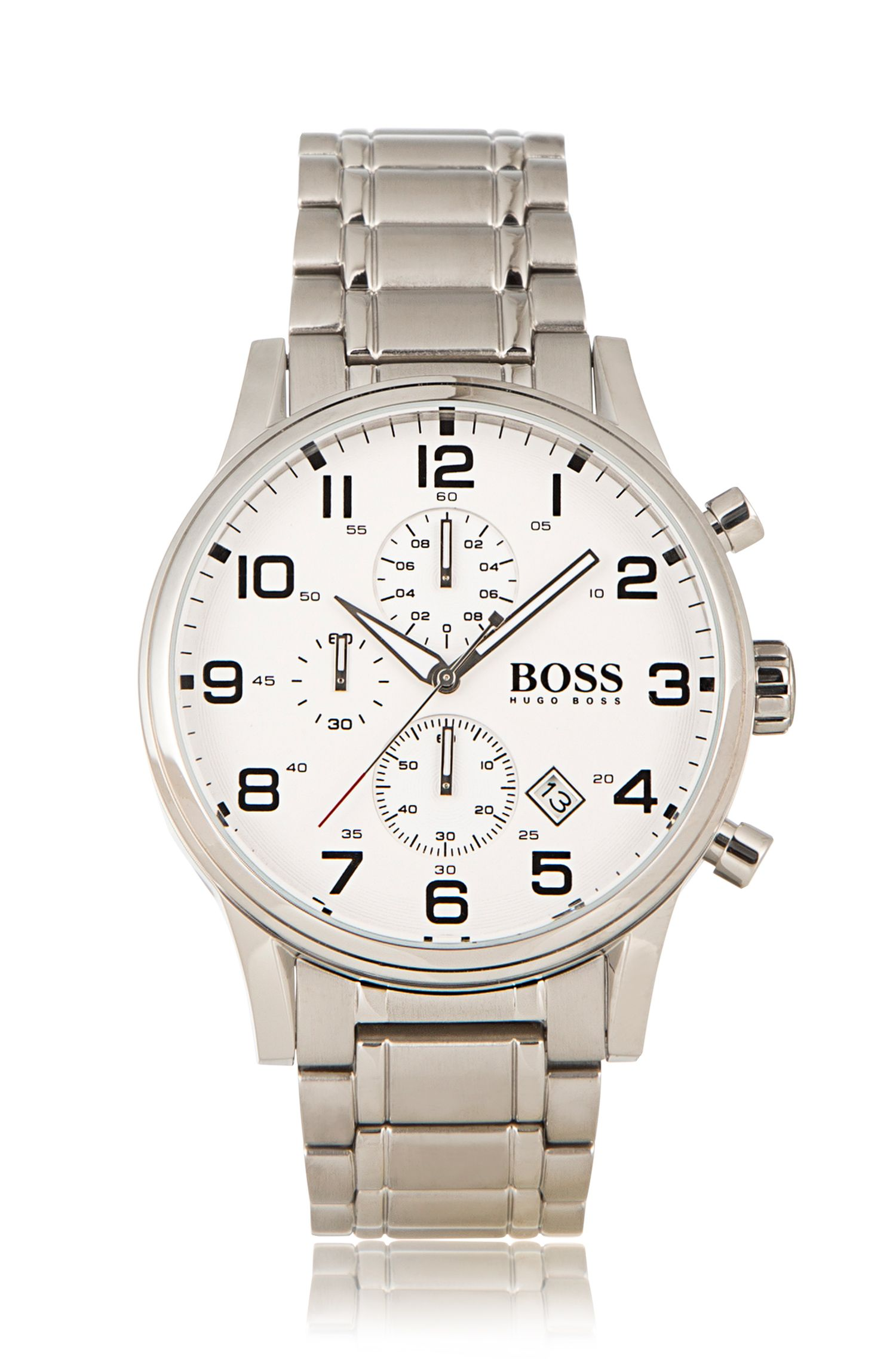 Chronograph Stainless Steel 3-Hand Quartz Watch | 1513182