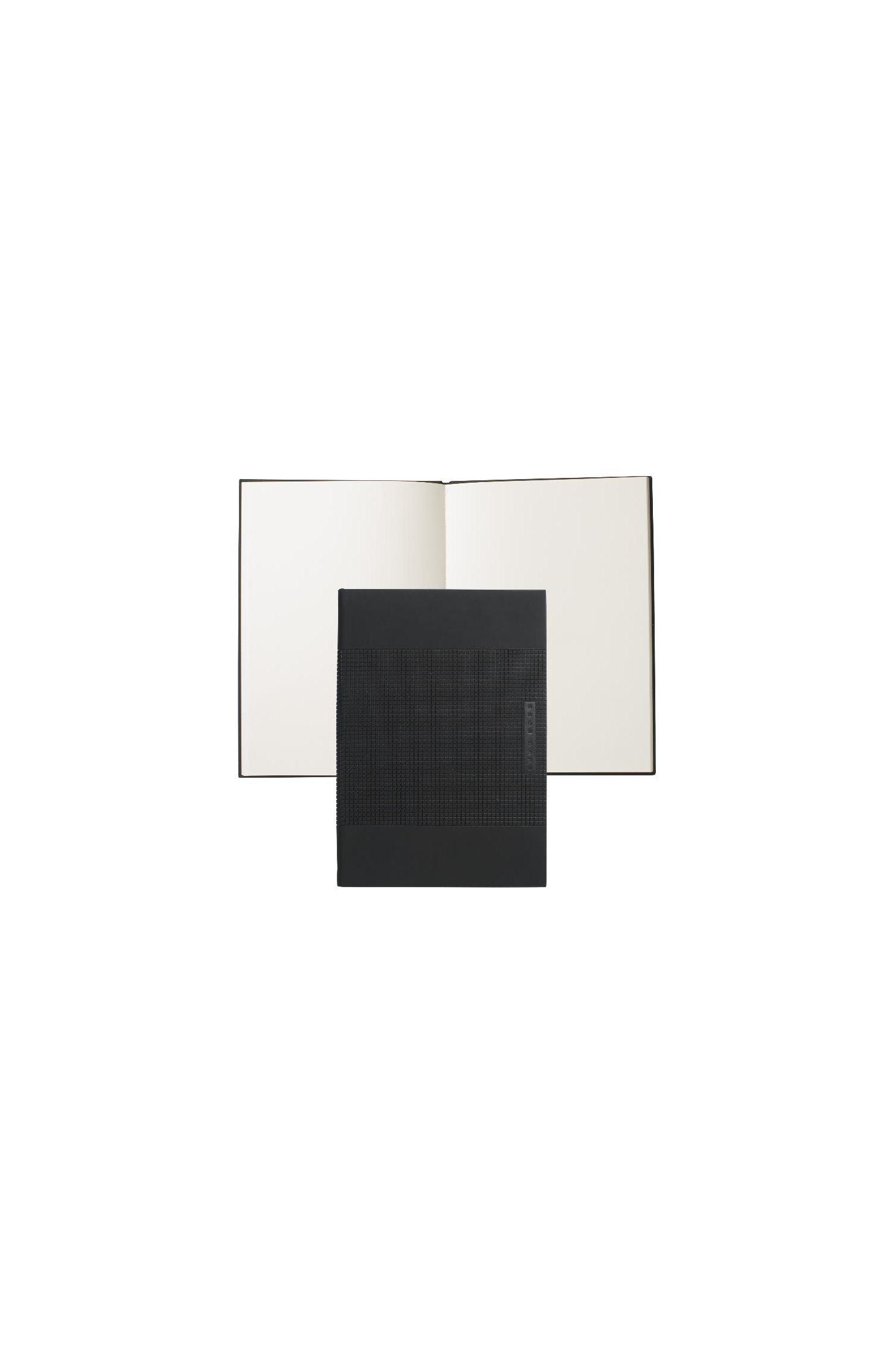 'Note Pad Grid' | Vegan Leather Bound Medium Notepad