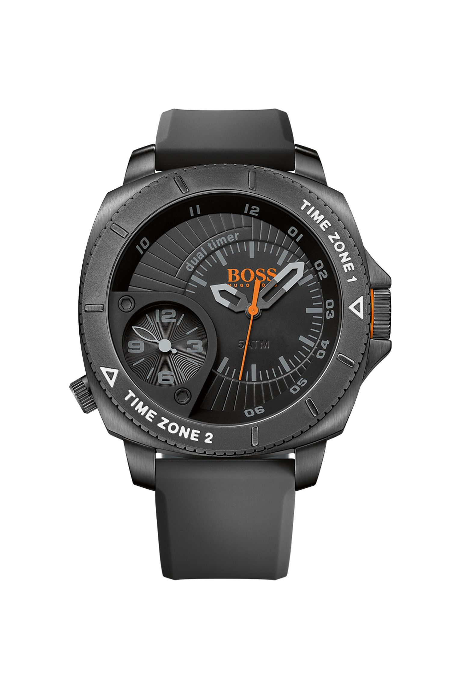 '1513213' | Stainless Steel Silicone Strap Quartz Watch