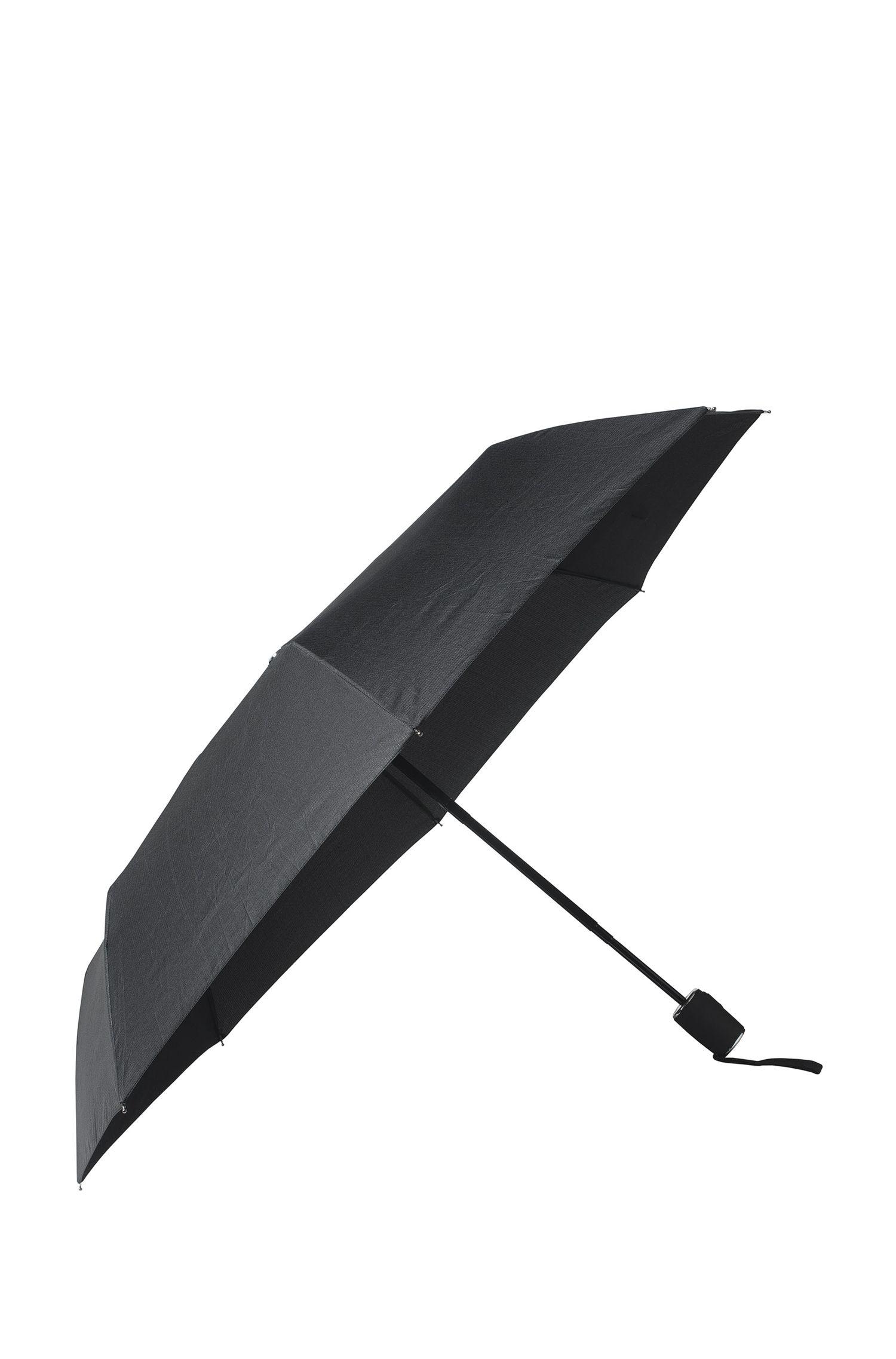 Nylon Printed Automatic Umbrella   Grid Pocket