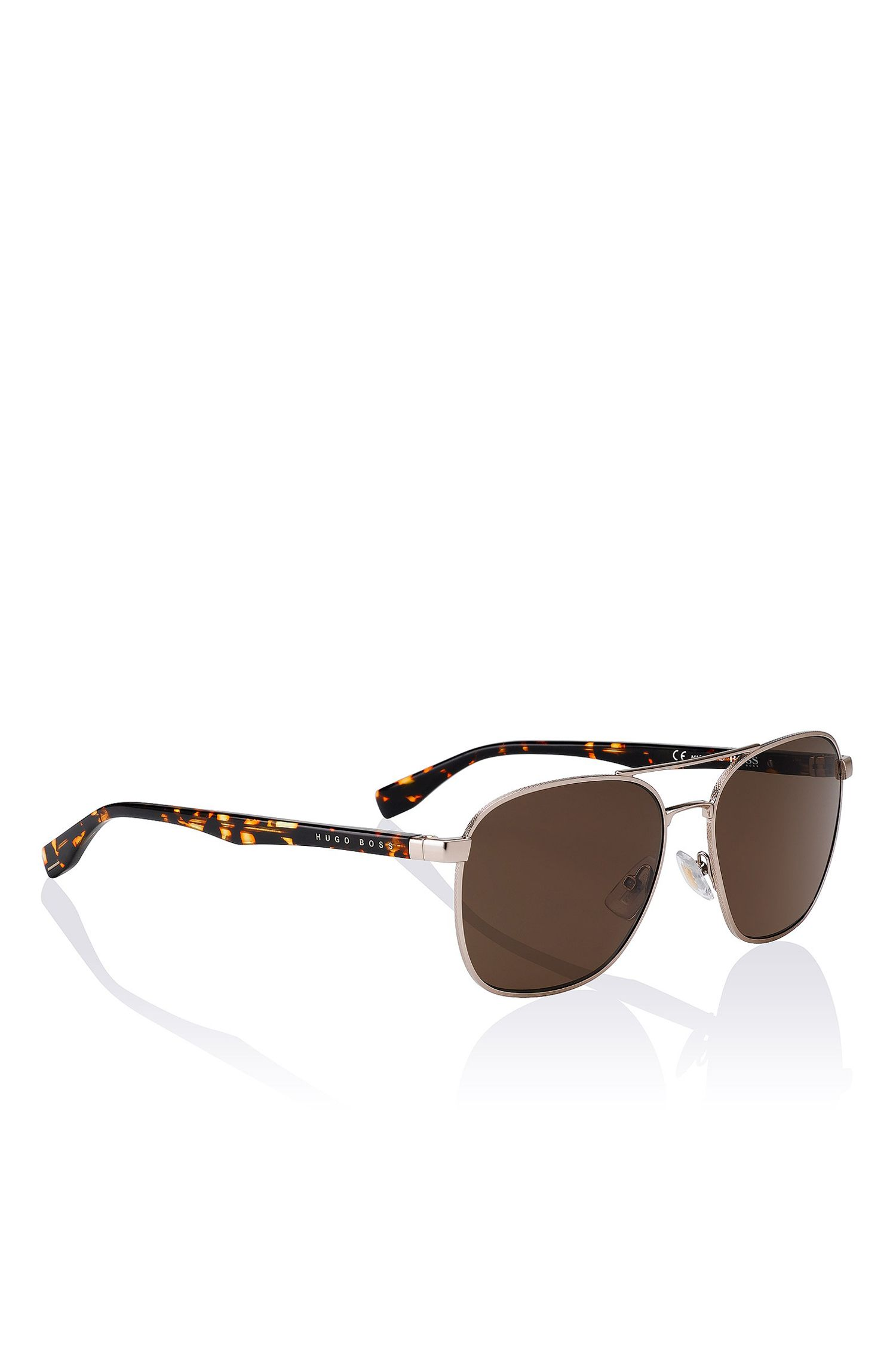 'BOSS 0701S' | Brown Lens Navigator Sunglasses