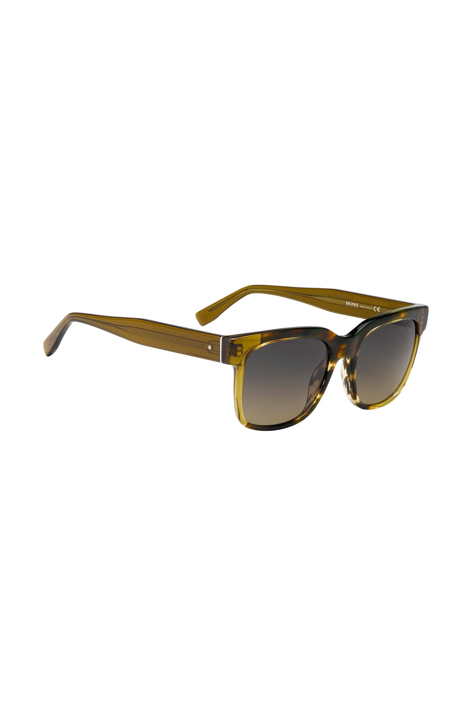 'BOSS 0735S' | Gradient Lens Acetate Sunglasses