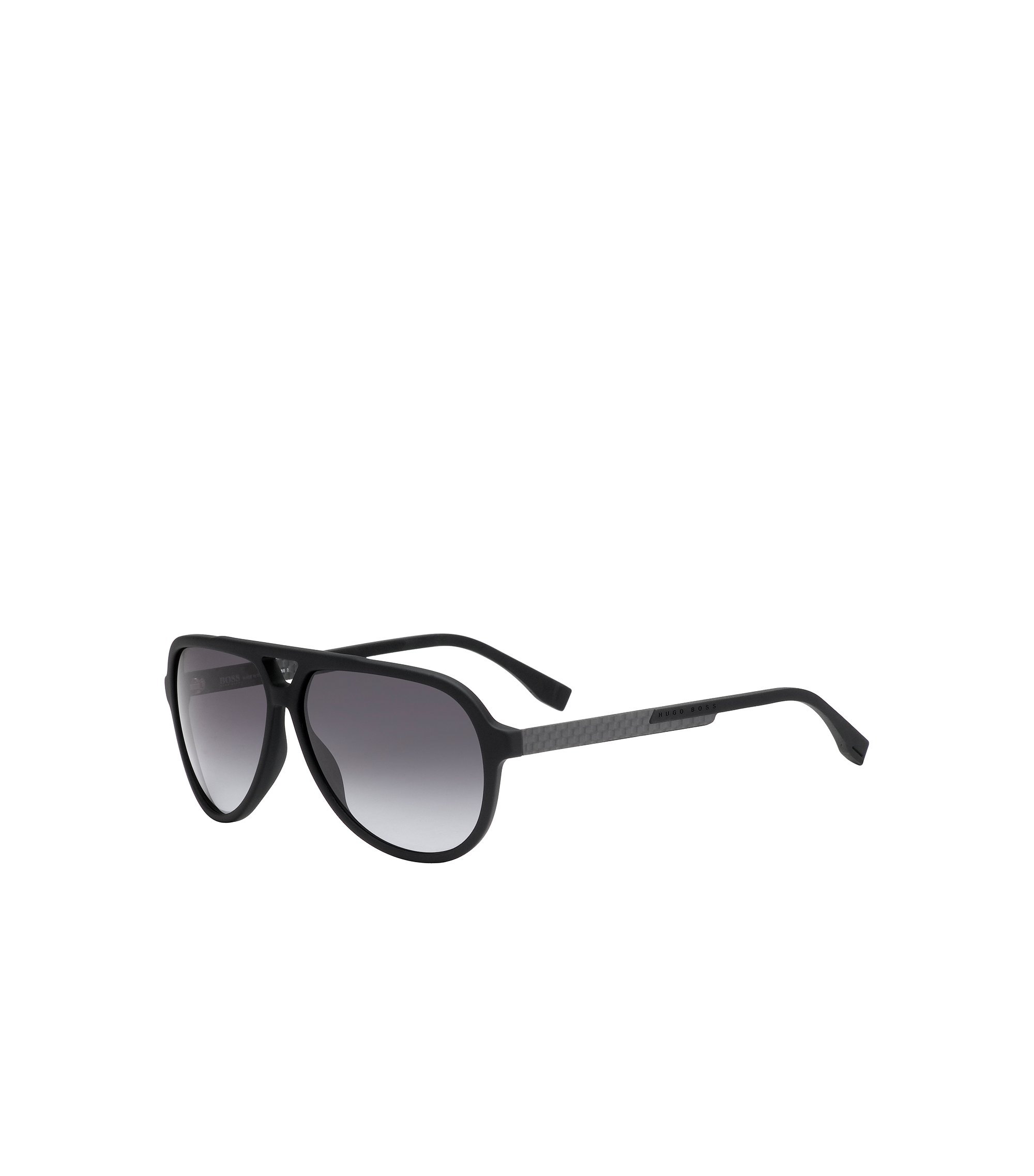 'BOSS 0731S' | Gray Lens Carbon Fiber Aviator Sunglasses, Assorted-Pre-Pack