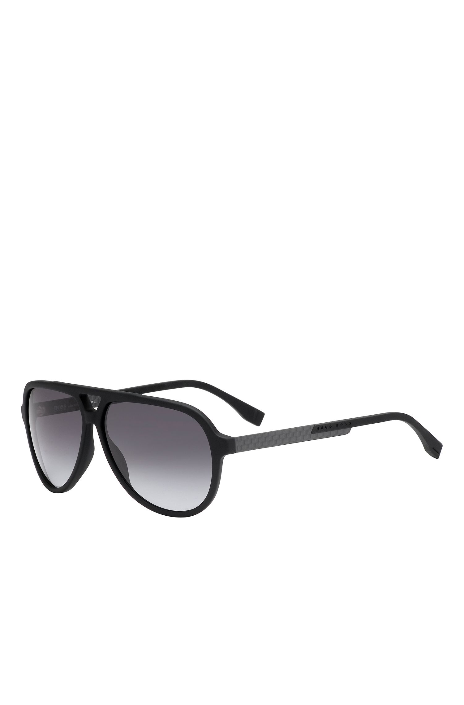 'BOSS 0731S' | Gray Lens Carbon Fiber Aviator Sunglasses
