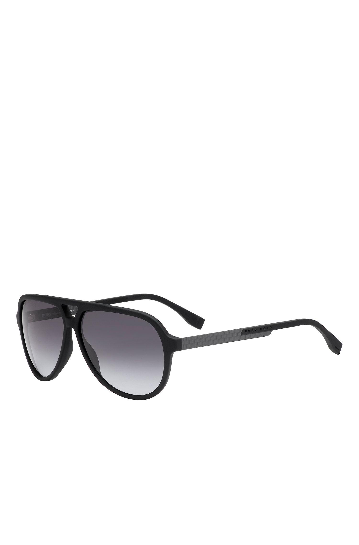 'BOSS 0731S' | Gray Lens Carbon Fiber Aviator Sunglasses