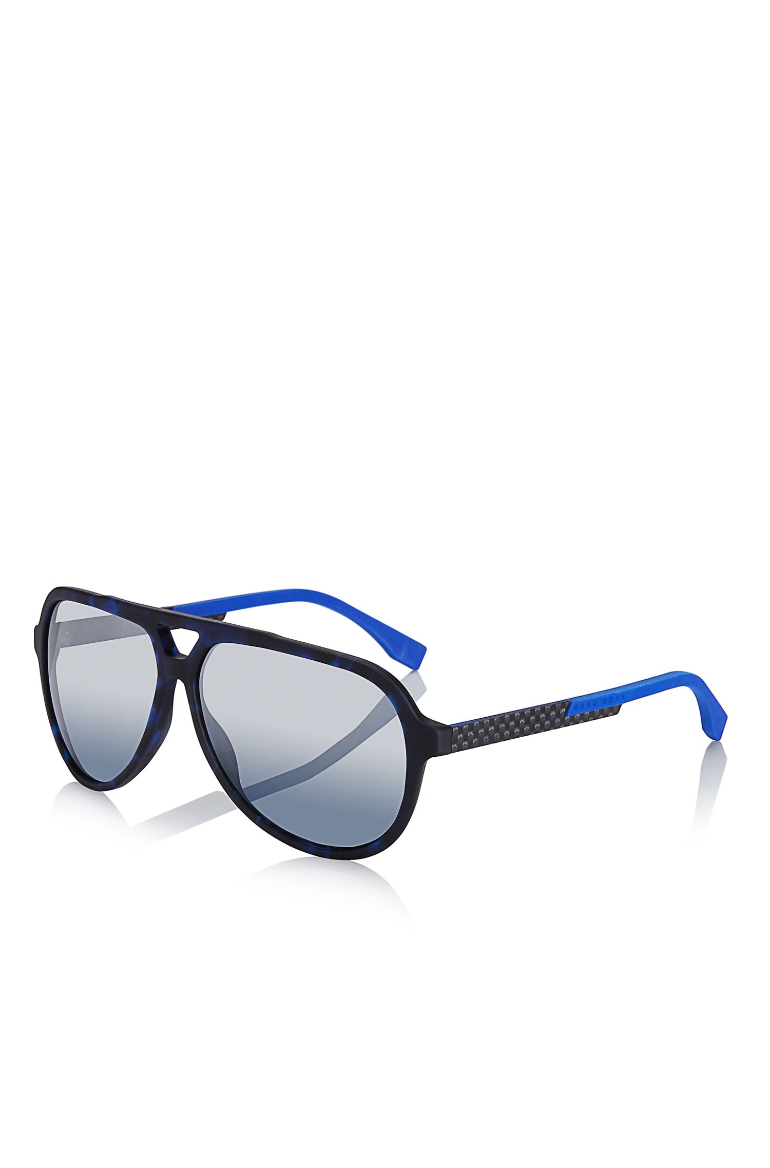 Mirror Lens Carbon Fiber Aviator Sunglasses | BOSS 0731S