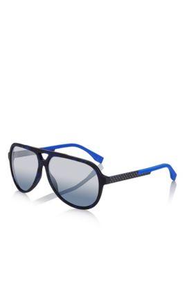 'BOSS 0731S' | Mirror Lens Carbon Fiber Aviator Sunglasses, Assorted-Pre-Pack